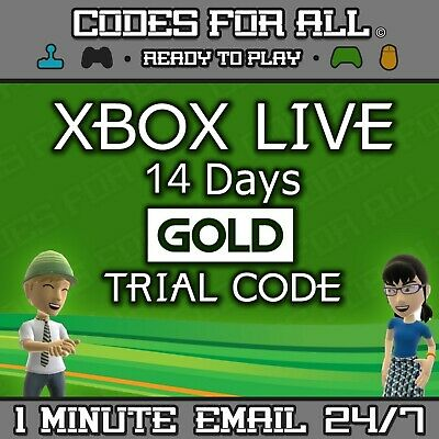 Xbox Live 14 Days 2 Weeks Gold Trial Code 2 Week 14 Day - INSTANT DISPATCH 24/7