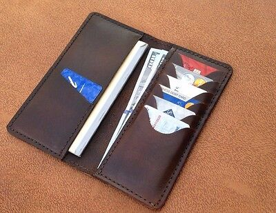 Hand Made High Quality Genuine Leather Checkbook Cover for Men & Women