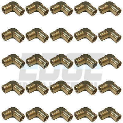 (25 PACK) 3/4 HOSE BARB ELBOW X 1/2 MALE NPT Brass Pipe Fitting Gas Fuel WOG