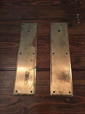Antique Door Back Plates Push Plates Heavy Brass