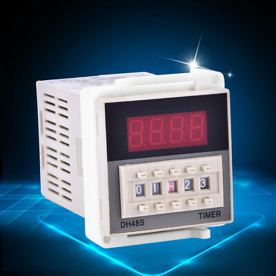 DH48S-2Z Digital Double Time Delay Relay with Socket Base 220V 0.01S-99H99M hon