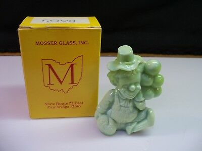 Bags Mosser Clown Collectible Figurine With Box - Light Green Slag Glass