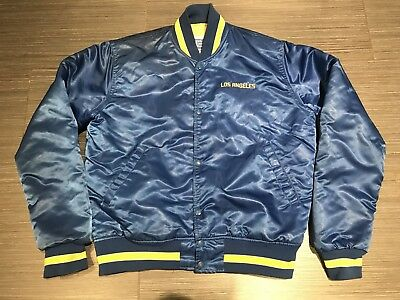 check out 366f2 e60ad VINTAGE 90S STARTER Los Angeles Rams NFL Satin Proline Football Jacket  Adult M