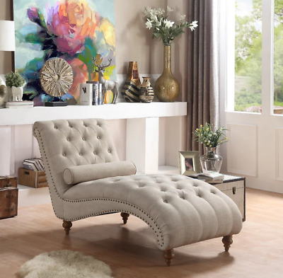 CHAISE LOUNGE CHAIR Modern Sofa Bedroom Living Room Indoor ...