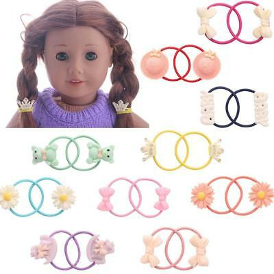 Cute Handmade Doll Hair ring head rope For 18 inch Girl Dolls Toy_Clothes