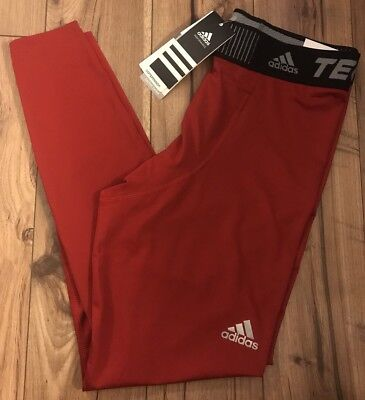 New Adidas Techfit Red Compression Base Tight - Men's L Large