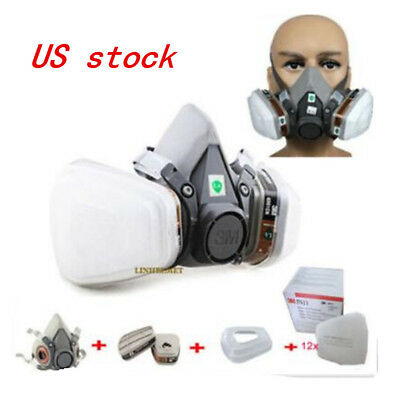 US Gas Mask F 6200 Painting Spray Dust Protector Respirator Set 7 in 1 half Face
