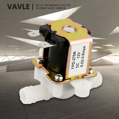 OD12mm Inlet Electromagnetic Valve Normally Closed Water Flow Switch DC12V el