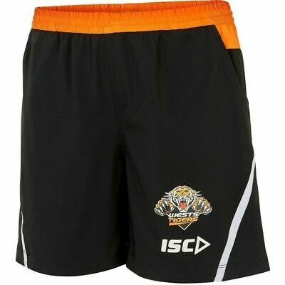 Wests Tigers NRL 2018 Players ISC Training Shorts Sizes S-5XL!
