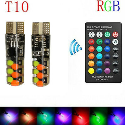 RGB Beads Bright Car Dashboard Light with Remote Control T10 W5w Stop Light