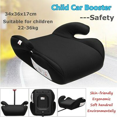 Black Car Booster Seat Safe Pad Sturdy Kid Children Child Fits 6-12 Years