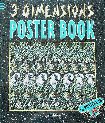 3-DIMENSIONS Poster Book, Magic-Eye, 1994 deutsch, 14 Poster in 3D, ba519