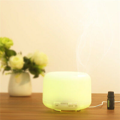 500ml Essential Oil Aroma Diffuser LED Ultrasonic Air Mist Aromatherapy Purifier