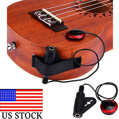 Acoustic Piezo Contact Microphone Pickup For Guitar Violin Mandolin Ukulele HM-0