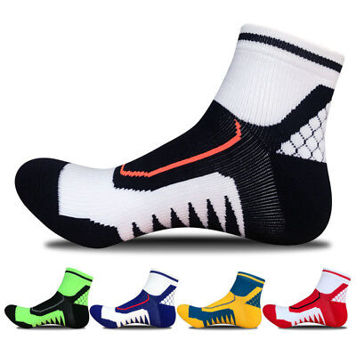 Men's Ankle Socks Sport Running Cycling Crew Casual Bicycle Football Cotton Sock
