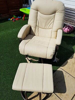 timeless design 589c7 bc8ae BABYLO CLOUD NINE Glider Chair and Foot Stool - £70.00 ...