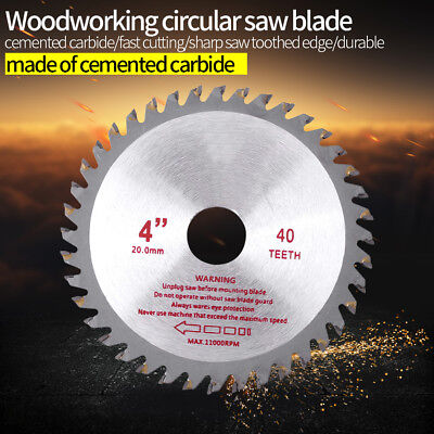 "Hardened Cemented Carbide Circular Saw Blade Wood Cutting Tool 4"" 8"" 10"" 30T 40T"