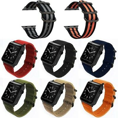 Woven Nylon Sport Loop Band Strap Bracelet For iWatch Apple Watch Series 1 2 3