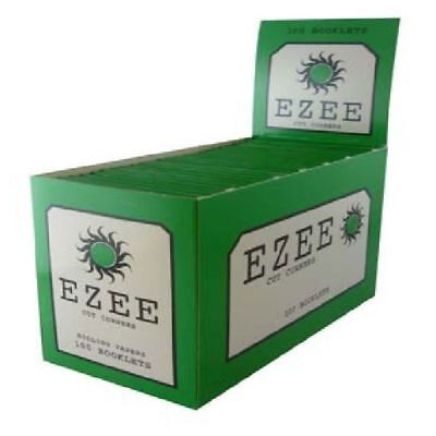 Ezee Green Rolling Papers Cigarette Standard Size Cut Corner 100 Booklets £8.19