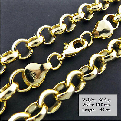 Necklace Chain Real 925 Sterling Silver S/F Solid Vintage Link T'bar Design