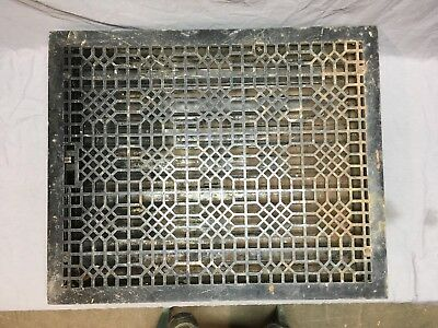 Extra Large Antique Cast Iron Heat Grate Vent Floor Register Old 30x24 296-18E