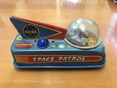 """Blech Auto Nasa Space Patrol """"1960"""" Made in Japan"""