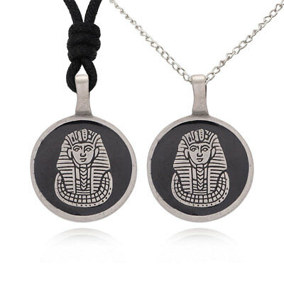 Egyptian Pharaoh Silver Pewter Charm Necklace Pendant Jewelry