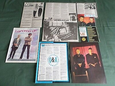 Blancmange  -  Pop Music  - Clippings /cutting Pack