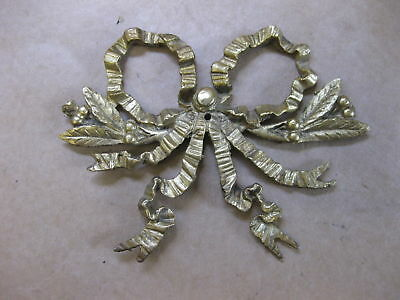 Antique Brass Decoration / Ornamentation for Clocks ~ Ribbon Bow