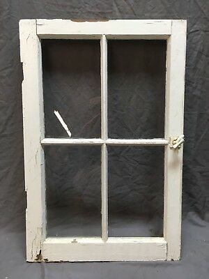 Antique 4 Lite Casement Cupboard Window Cabinet Pantry Shabby Vtg Old 303-18E