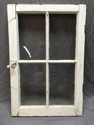 Antique 4 Lite Casement Cupboard Window Cabinet Pantry Shabby Vtg Old 304-18E