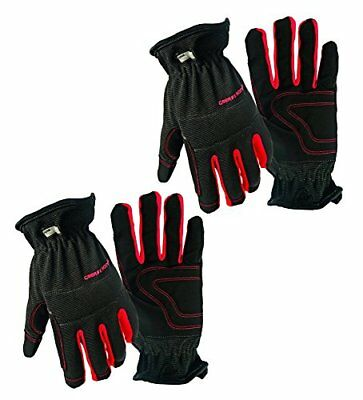 2 Pair Value Pack Medium Big Time Products Grease Monkey Utility Work Gloves