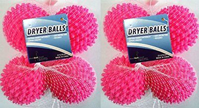 Dryer Balls 8 Pack Pink- Reusable Dryer Balls Replace Laundry Fabric Softener