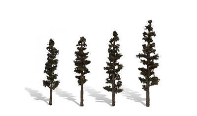 """Woodland Scenics [WOO] Trees Standing Timber 4-6"""" (4) WOOTR3561"""