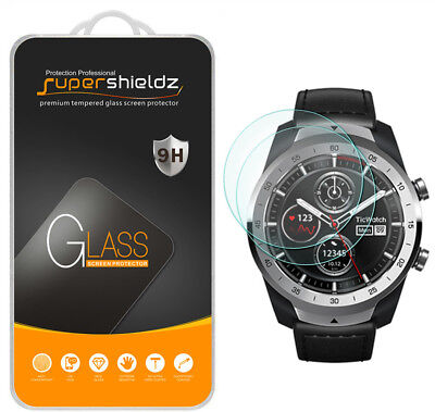 2X Supershieldz Tempered Glass Screen Protector Saver for TicWatch Pro