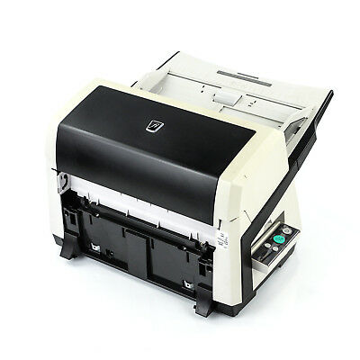 Discolored Fujitsu fi-6670 Desktop Pass Thru Color Scanner without Trays