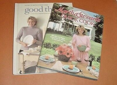 (2)Martha Stewart - Good Things Decorate & Quick Cookbook (1983) - Free Shipping