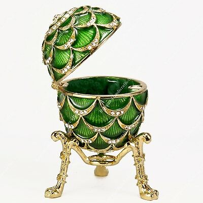 2.75'' Easter Enameled Egg Trinket Box Pine Cone Russian Traditions Of Faberge