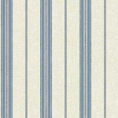 York Wallpaper Double Roll 56 sq ft Blue Striped Pattern LW5893