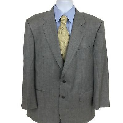 Brooks Brothers Men's Gray Houndstooth Blazer 45R 2Btn Wool Made in Italy