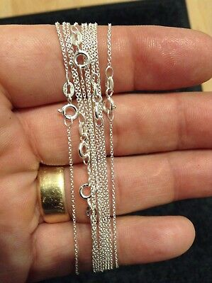 Silver Chains Bulk Buy X 10 Excelent New 18 Inch