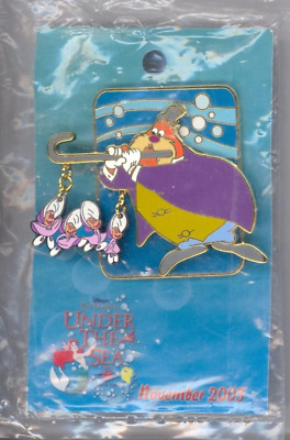 DCL Disney Cruise Alice In Wonderland Walrus & Baby Oysters LE 500 Pin SEALED