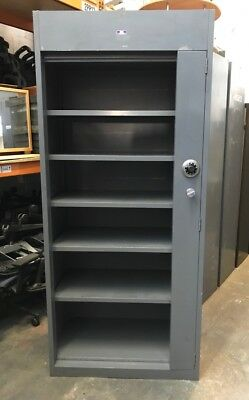 Tall Security Cupboard | Heavy Duty Steel Storage | Vertical Steel Tambour Door