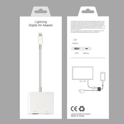 NEW Lightning To HDMI Digital AV TV Cable Adapter For iPad iPhone X 8 7 6 Plus