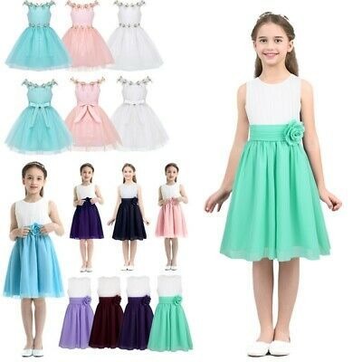 Toddler Girls Wedding Birthday Party Flower Dress Princess Pageant Tutu Dresses