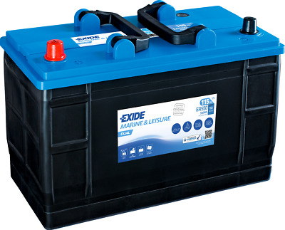 Ultra Deep Cycle Battery 12V 115AH (110AH) ER550 EXIDE Leisure Marine Dual Range