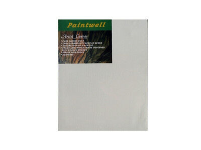 "5x Paintwell 40x40"" (100x100cm), 1.5"" (38mm) Thick,White Stretched Canvas Panels"