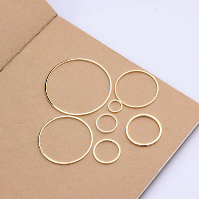 10pcs Round Findings Jewelry Accessories Ring Circle Making Craft Earring