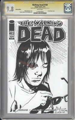 WALKING DEAD 109 SIGNED & SKETCHED BLANK By Stefano Gaudiano CGC 9.8 Carl