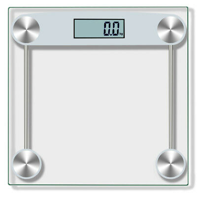 Digital Body Weight Scale 330 Lb Electronic Lcd Bathroom Fitness Fat 150kg Sl